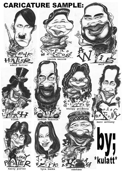 b&w CARICATURE SAMPLE