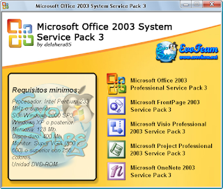 microsoft office 2003 for windows xp service pack 3
