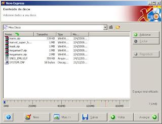 Nero - Adicionando arquivos ao projeto
