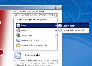 Nero - Novo projeto de CD de dados