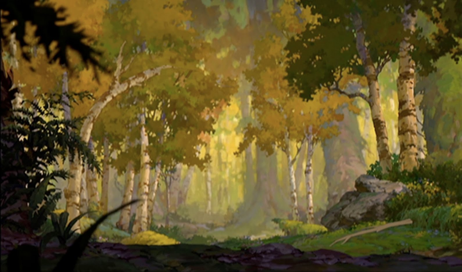 Winnie The Pooh Forest Background: Animation Backgrounds: BROTHER BEAR