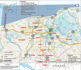 sgenius blog Mapa de las inundaciones de Tabasco