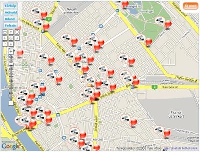 budapest részletes térkép Budapest térkép: Budapest térfigyelő kamera térkép budapest részletes térkép