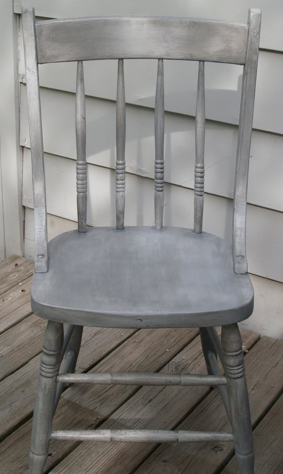 Nancy Fishelson Inspired French Gray Chair Refinish And