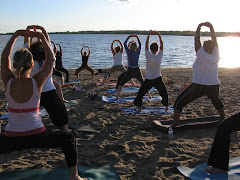 Yoga on Westboro Beach -  June 2007