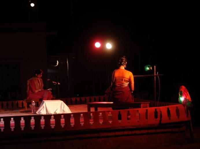 A PERFORMANCE BY SAMAKAL AT KALABHAVAN CHATAL, VISWABHARATI