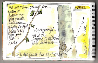 watercolour journal page by Bronwyn Simons, teacher of Artful life mixed media and creative journaling workshops for women , focusing on creativity and life balance