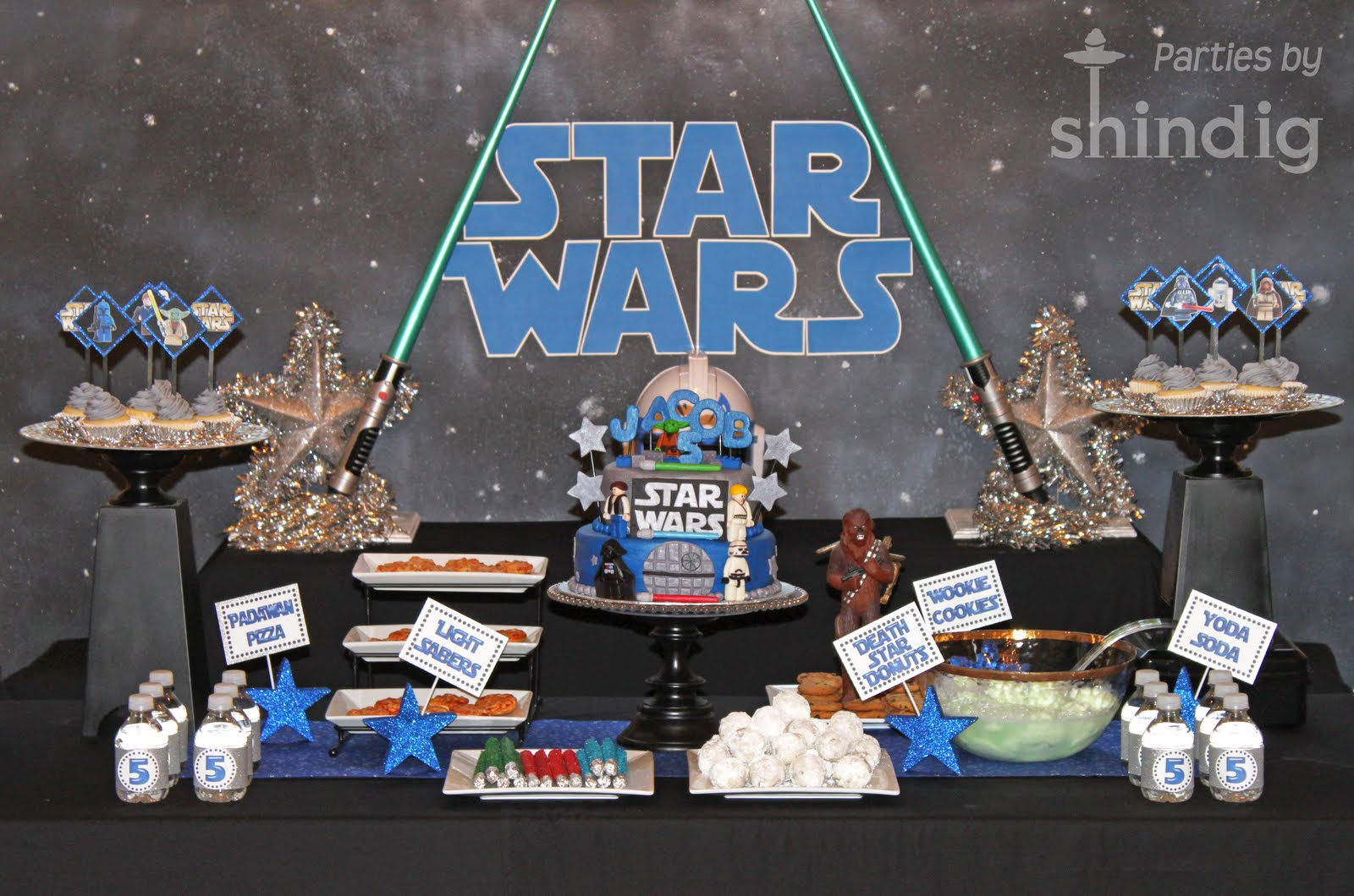 Star Wars Decorations Ideas Amanda 39s Parties To Go Star Wars Party Details