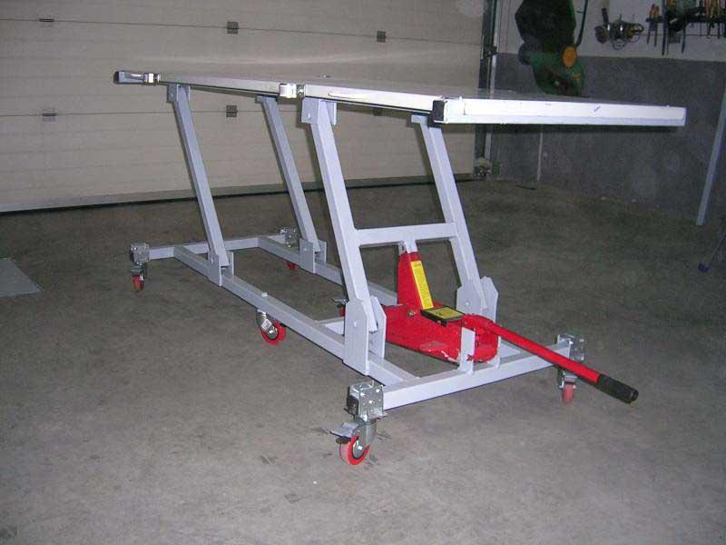 Elevador manual casero  Transportes de paneles de madera