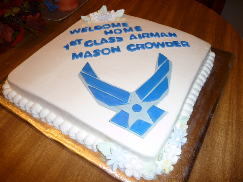 Welcome Home Air Force Cake