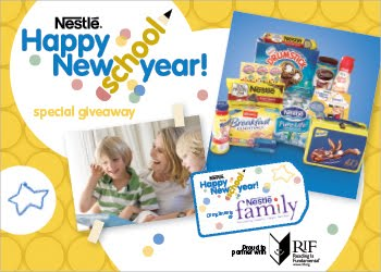 Reading Is Fundamental and Nestle Family Happy New School
