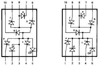 Znalezione obrazy dla zapytania wyswietlacz 7 segmentowy schemat