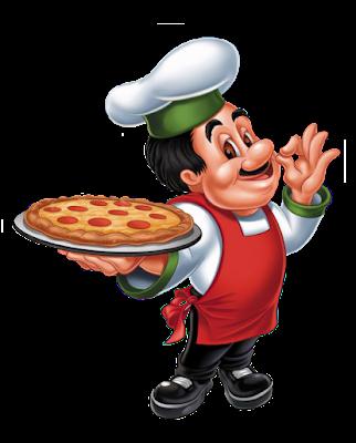 dibujo color cocinero de pizzas