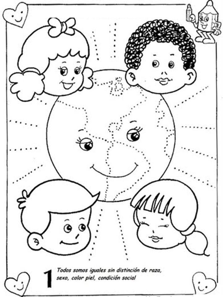 Dibujos Para Colorear Derechos De Los Ninos Dibujos Para Colorear De
