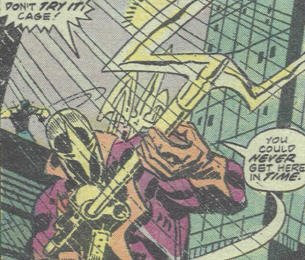 Spear preparing to rip #$%@ up, POWER MAN #34