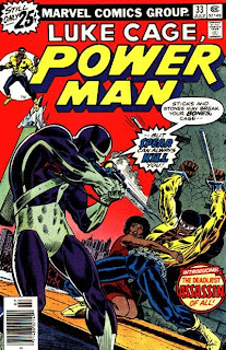 Spear rips off the Melter's costume, POWER MAN #33