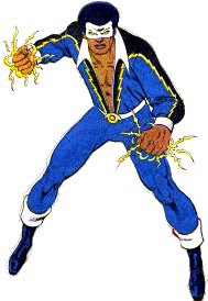 Black Lightning, in his original look.