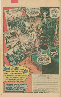 Weird War Tales subscription ad from GHOSTS #89