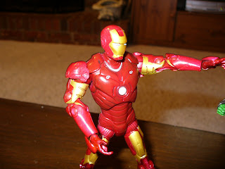 As Iron Man, all jets ablaze / He fights and smites with repulsor rays!