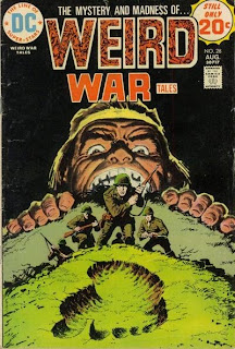 I mean, did they NOT see him when they were on the other side of the hill?  WEIRD WAR TALES #28