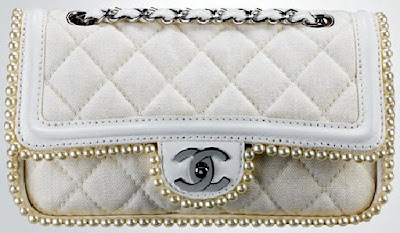 StyleMint: Chanel with Pearls and GunmetalYour Style Source for Fine Design in Handbags :  pearl hand bag off white purse