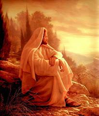 Jesús meditando