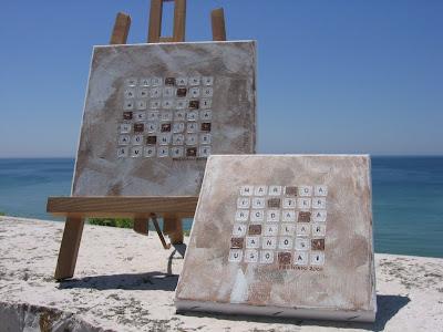 Palavras Cruzadas em Tela na Zimbr'Arte
