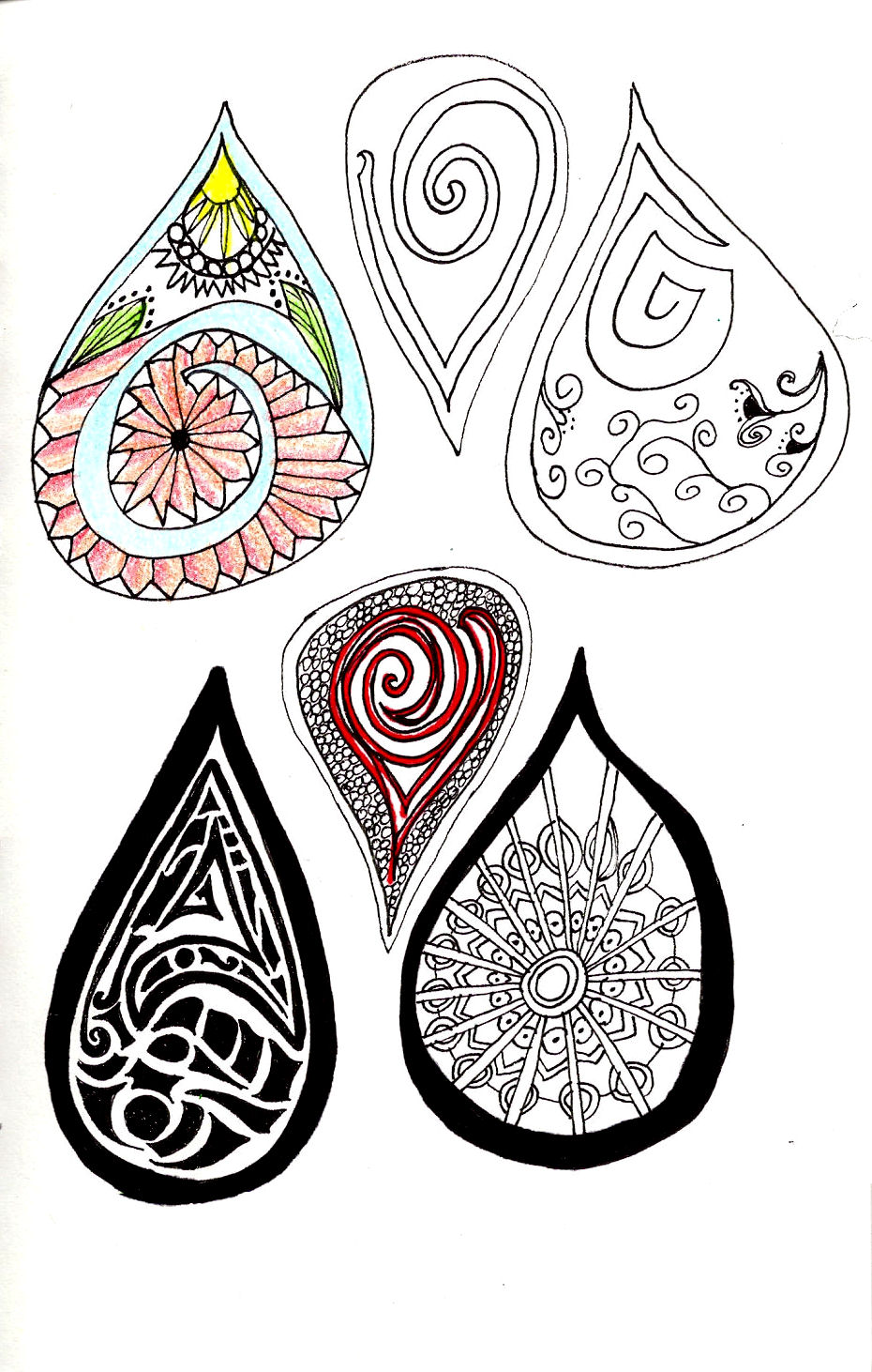 Drawing A Teardrop: Giddy Up Let's Ride: Zentangle #25