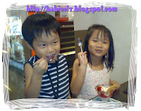 LZ enjoyed their strawberry ice cream