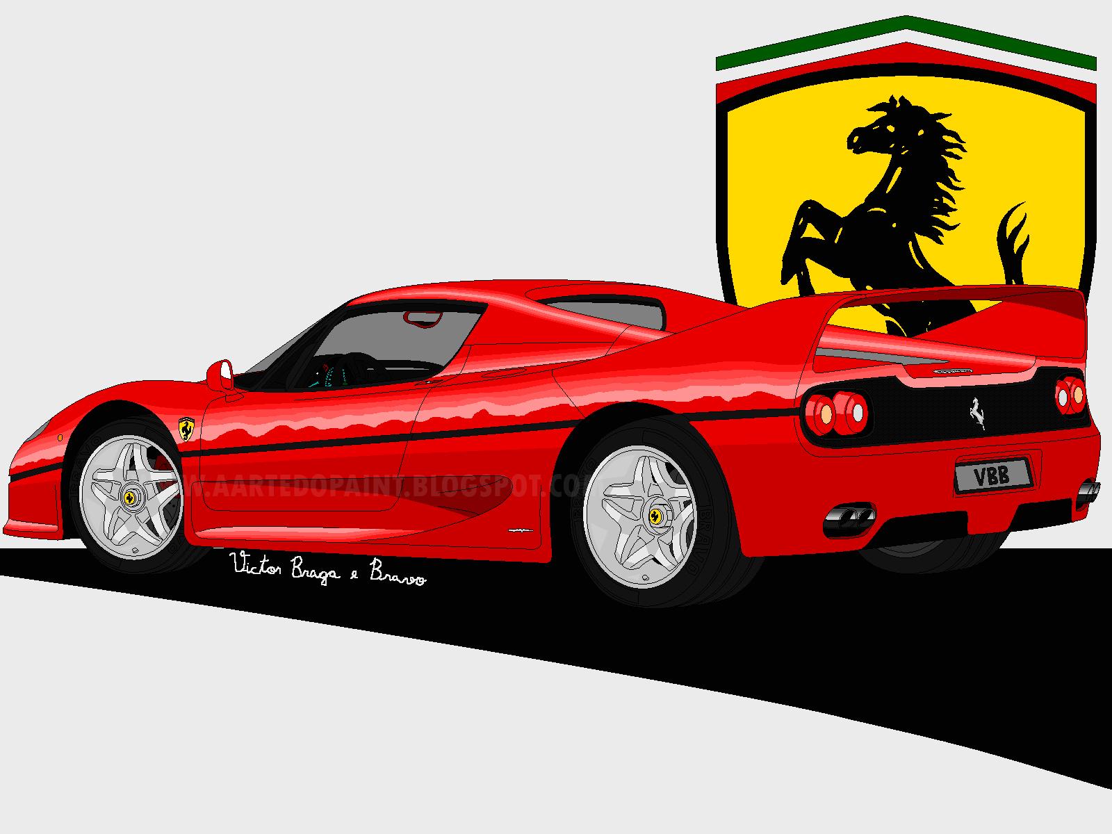 54d653e7042 A Arte do Paint  Clássicos de infância - Ferrari F50