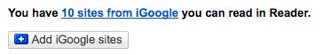 iGoogle import