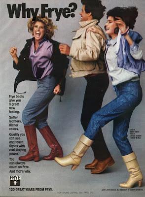 Gia Carangi Editorials 1983 Frye Leather Boots