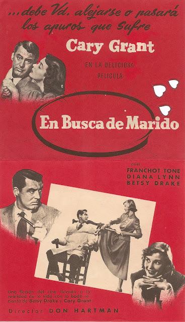 Programa de Cine - En Busca de Marido  (Desplegable) - Cary Grant - Betsy Drake