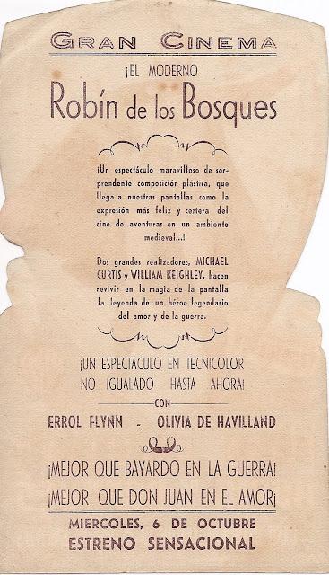 Programa de Cine - Robin de los Bosques - Errol Flynn - Olivia de Havilland