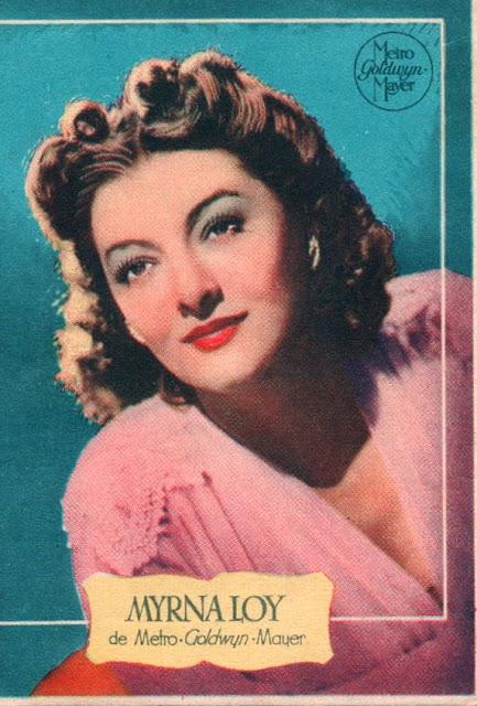 Retrato antiguo de Myrna Loy