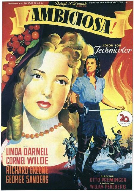 Programa de Cine - Ambiciosa - Linda Darnell - Cornel Wilde