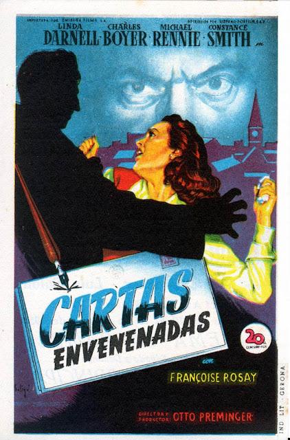 Programa de Cine - Cartas Envenenadas - Charles Boyer - Linda Darnell