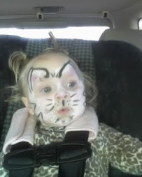 Loved getting her face painted