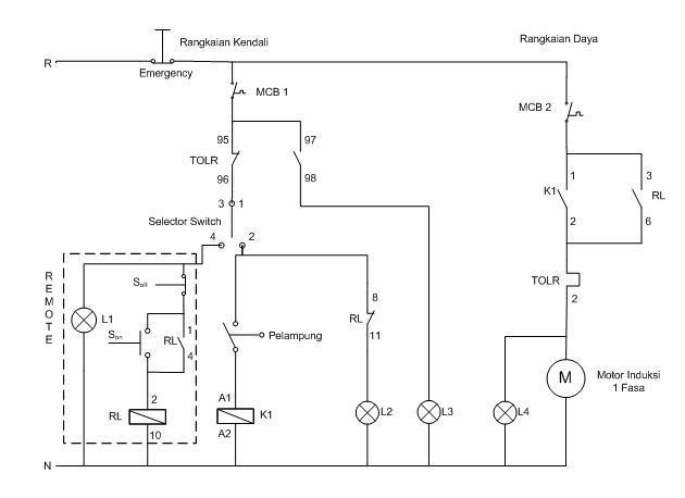 Rangkaian Water Level Control  Wlc  Pada Pompa Air Dengan