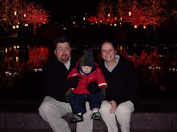 Freezing our buns off at Temple Square
