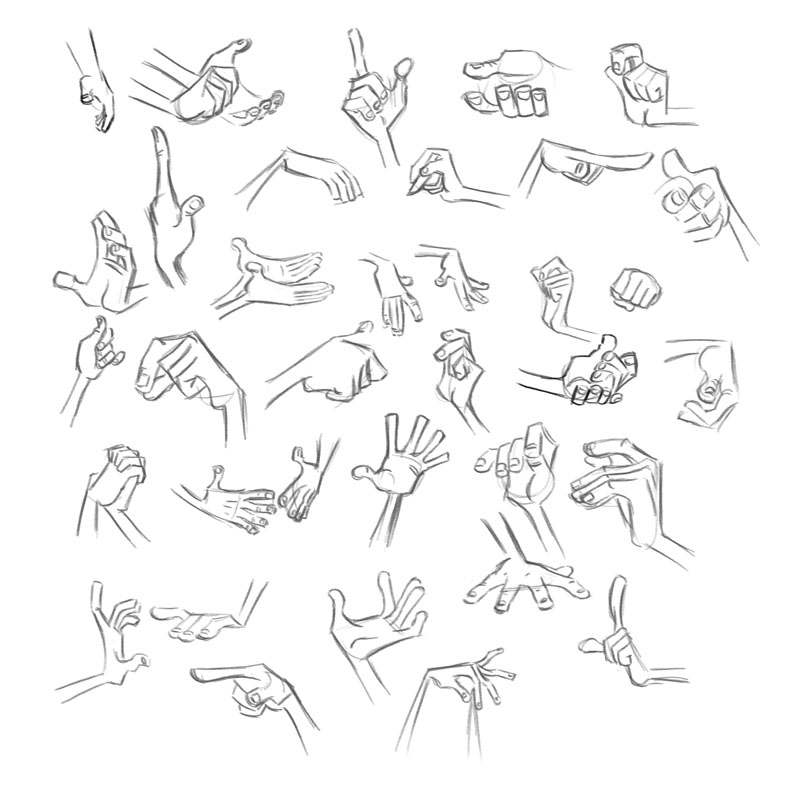 Study - Milt Kahl - Hands 2 by Tashy497deviantart on - reference sheet examples