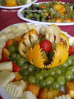 orange garnish for fruit display