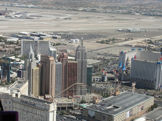 Vista da Strip do helicóptero, Las Vegas.