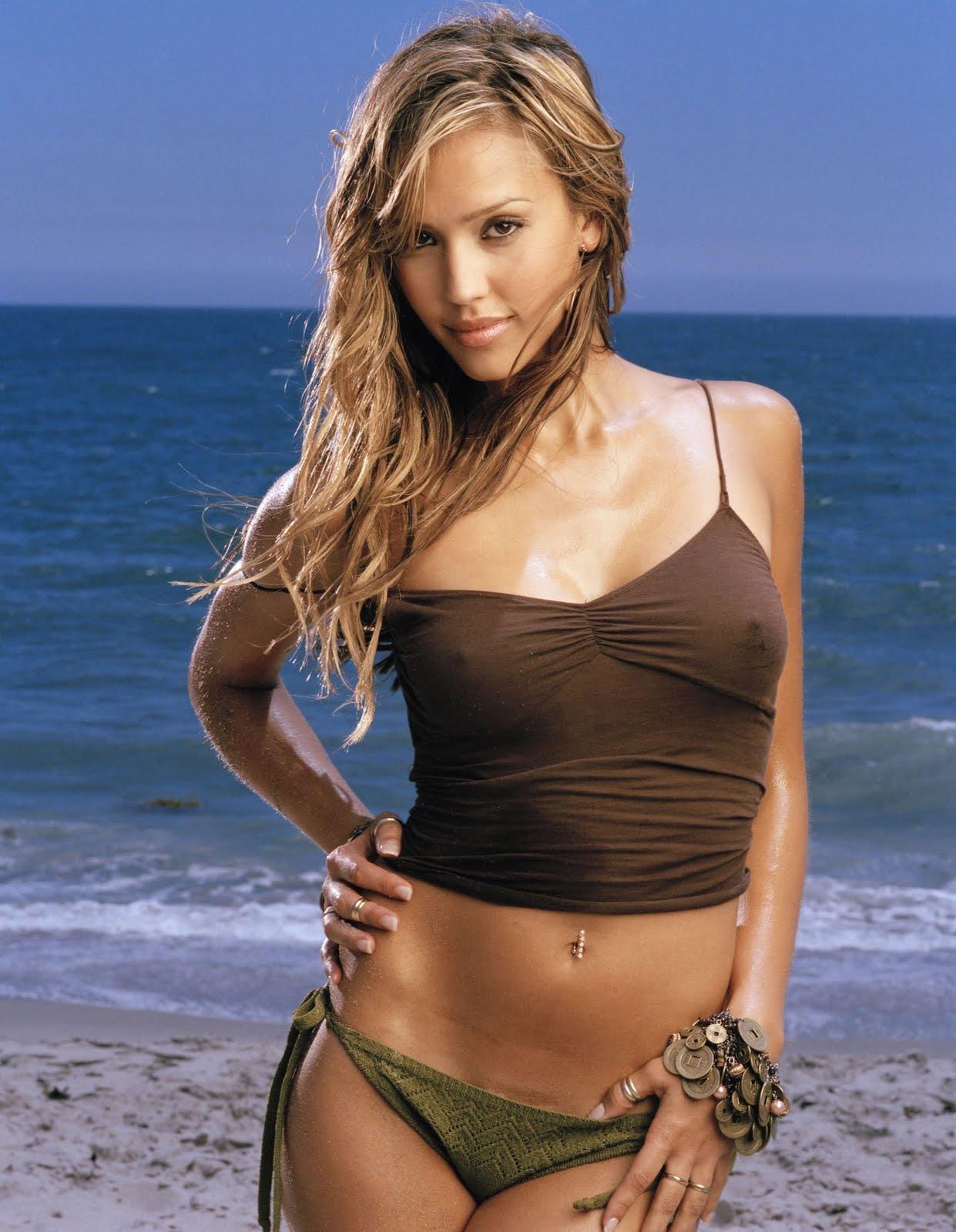 Hot, sexy jessica alba in bikini and seductive dresses