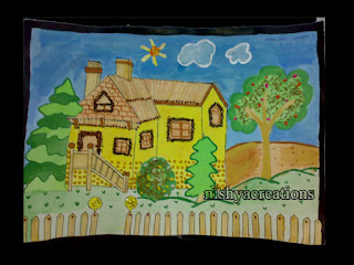 House Craft Using Match Sticks A School Project For My Kid