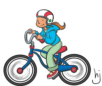 Helen Jen Is Drawing A Girl And Her Bike