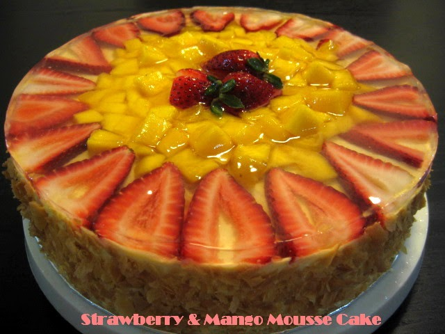 mango mousse cake wen s delight strawberry amp mango mousse cake 5692