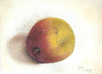 Mango on White Linen