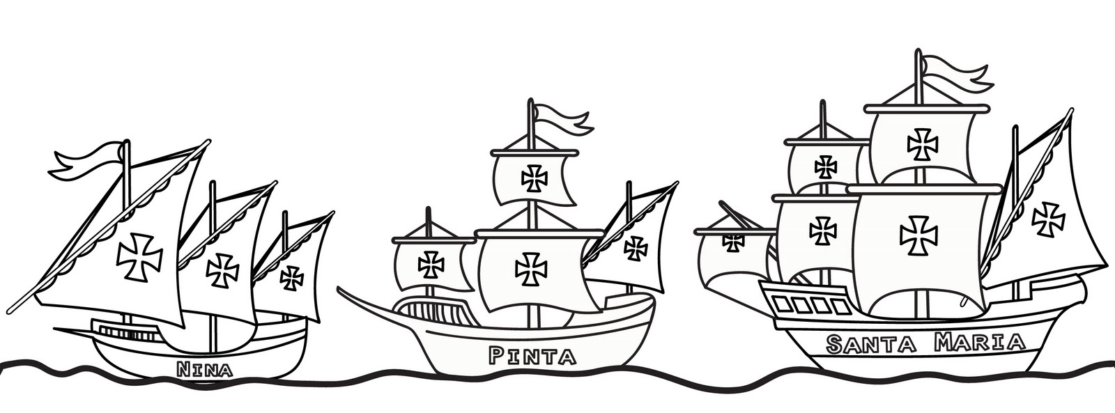 columbus ships coloring pages - photo #21