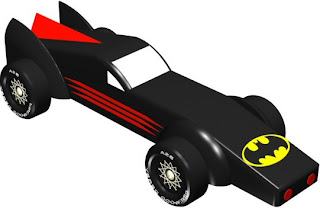 Batmobile Car Design Plan Includes Cut Out Templates 3D AutoCAD Images To Show How Build This Step By Also Included Is Weight Placement
